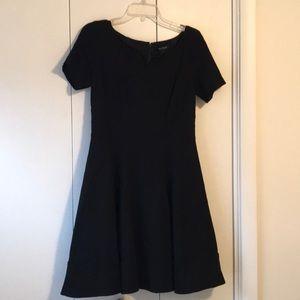 WHITE HOUSE BLACK MARKET Black Retro Dress